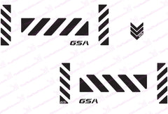 BMW GS Motorcycle Reflective Decal Kit GSA Large Chevron for Touratech Panniers