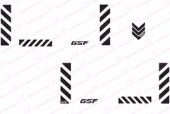 "BMW GSF Motorcycle Reflective Decal Kit ""Small Chevrons"" for Touratech Panniers"