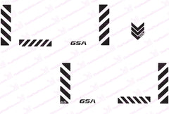 "BMW GSA Adventure Motorcycle Reflective Decal Kit ""Chevron"" for Touratech Panniers"