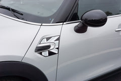 Mini Cooper and Cooper S Hard Top (2014 to Current) Union Jack A Panel Decal Kit - Black / Grey / White