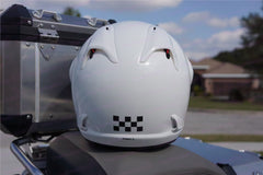 "Reflective Safety Decal Kit ""Checker"" for Arai XD4 Motorcycle Helmet"