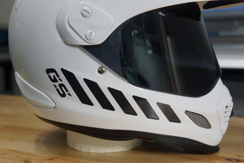 Custom GS Style Reflective Chevron Stickers For Arai Helmets The - Helmet custom vinyl stickers