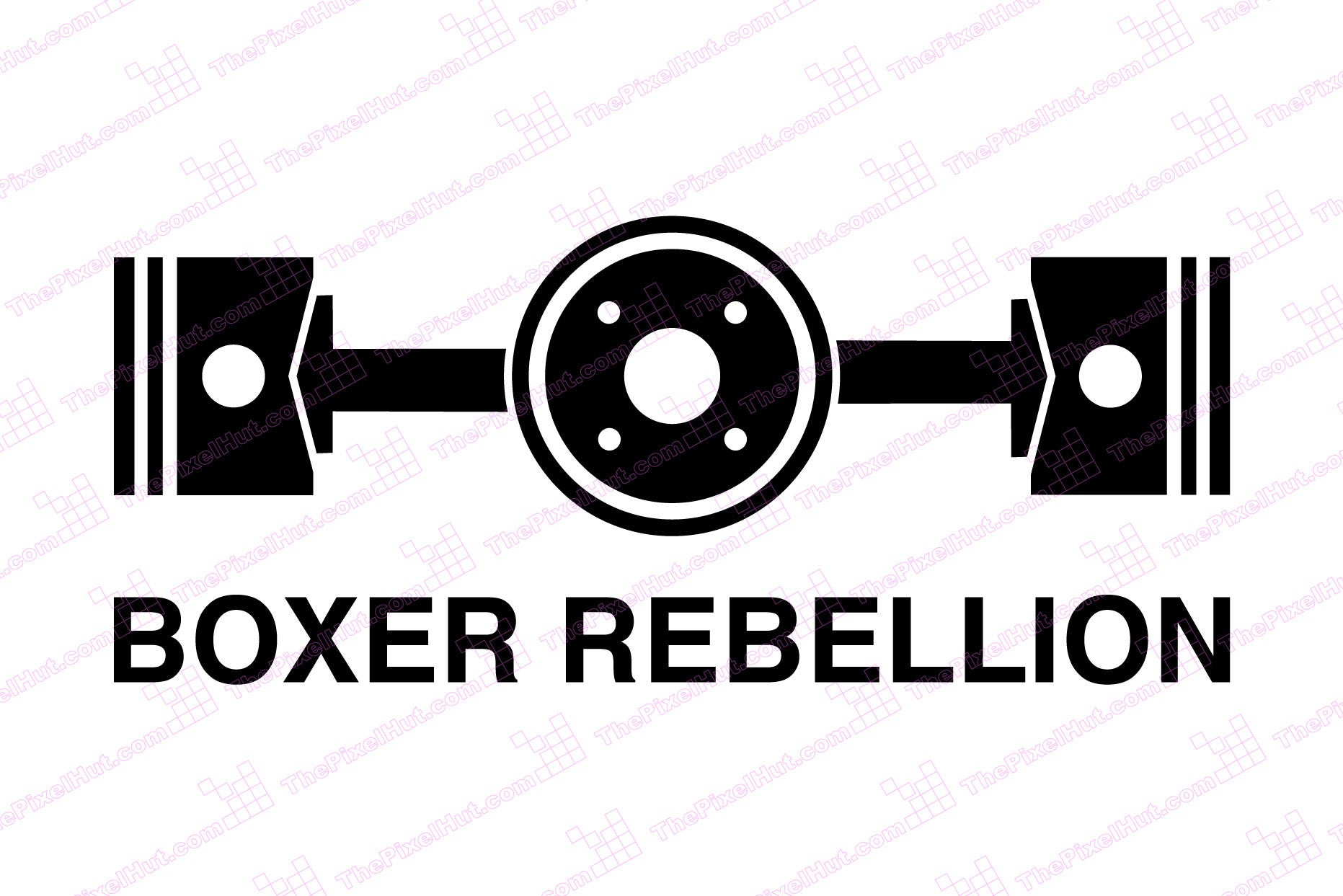 Horizontal Twin Engine Boxer Rebellion Decal The Pixel Hut