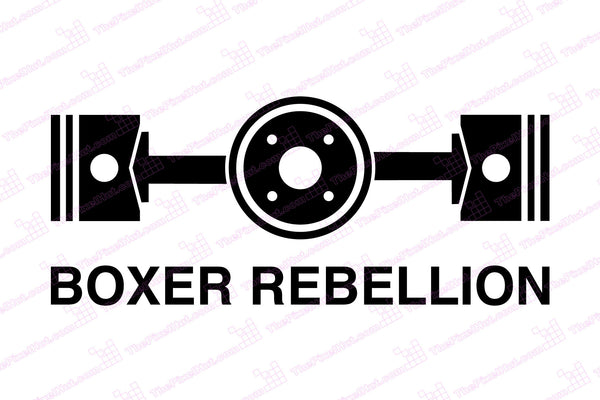 """Boxer Rebellion"" Horizonal Twin Decal"