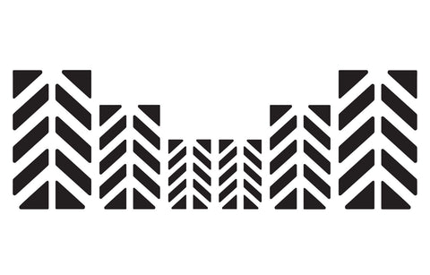 Motorcycle Reflective Chevron Decal Kit