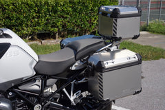 BMW GS Adventure Motorcycle Reflective Chevron Graphics Kit for Touratech Panniers and Top Case
