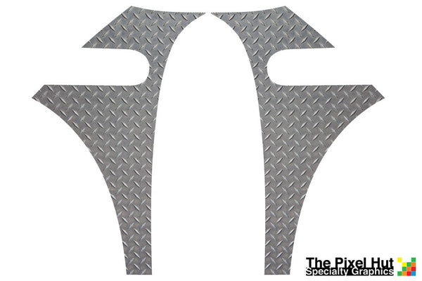 Mini Cooper (2007-2013) R56 Diamond Plate A-Panel Decal Kit - Exact Fit