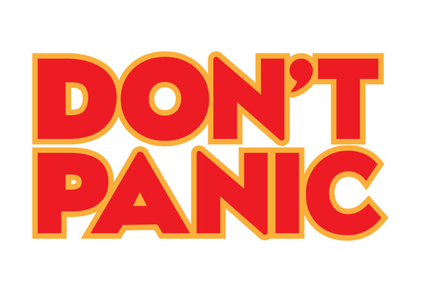 Dont Panic Hitchhikers Guide to the Galaxy Decal