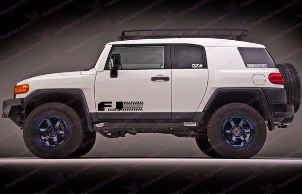Toyota Fj Cruiser Quot Tire Design Quot Door Decal Kit The Pixel Hut