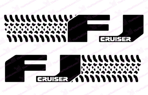 "Toyota FJ Cruiser ""Tire Design"" Door Decal Kit"