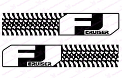"Toyota FJ Cruiser ""Tire Design"" Negative Carbon Fiber Door Decal Kit"