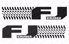 "Toyota FJ Cruiser ""Tire Design"" Carbon Fiber Door Decal Kit"