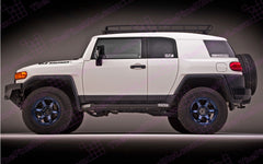 "Toyota FJ Cruiser ""Italic"" Carbon Fiber look Hood Decal Kit"