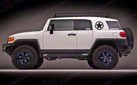 "Toyota FJ Cruiser 20"" Oscar Mike Freedom Star Hood Decal"