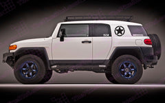 Oscar Mike Freedom Distressed Star Decal Sticker Set for Toyota FJ Cruiser