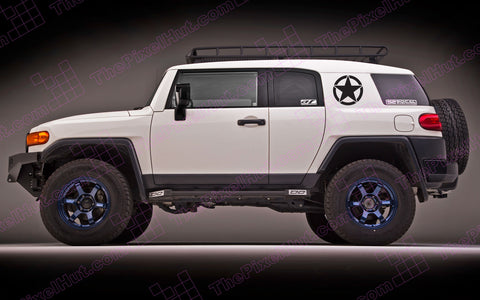 "Toyota FJ Cruiser 13"" Oscar Mike Freedom Star Decal"