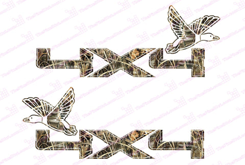 Ford F150 4x4 Duck Camo Decals (2009-2011)