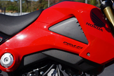 Honda Grom MX125 Carbon Fiber look Gas Tank Decal Kit