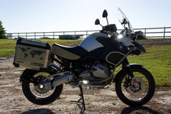 BMW GS Motorcycle Decal Kit R1200 World Adventure Map for Touratech Panniers