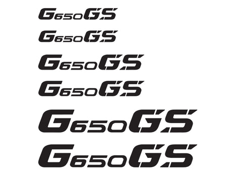 BMW GS Motorcycle Reflective Decal Kit G650 GS