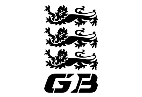 BMW GS Motorcycle Reflective Decal GB Lions