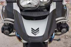 BMW Large Negative GS Motorcycle Reflective Chevron Graphics Kit for Touratech Panniers