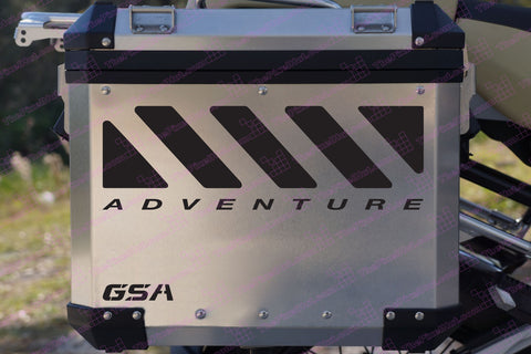 "BMW GS Motorcycle Reflective Decal Kit ""GSA Large Chevron Adventure"" for Touratech Panniers"