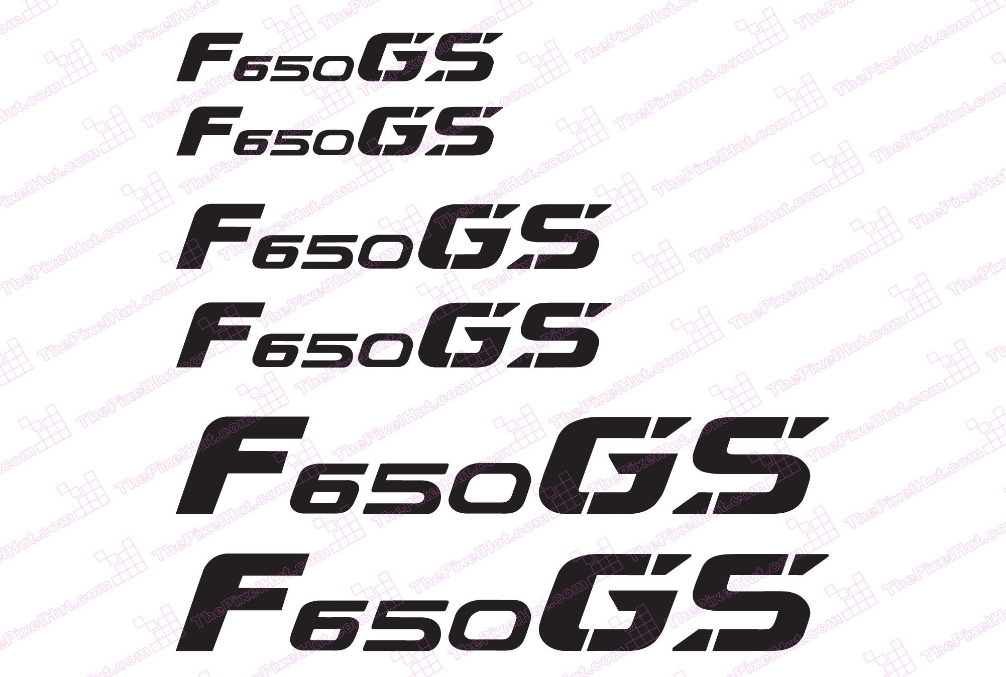 Bmw Gs Motorcycle Reflective Decal Kit For F650 Gs The
