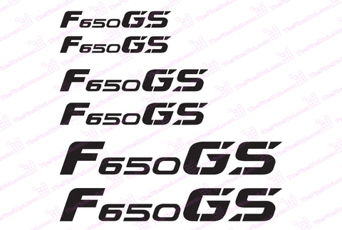 BMW GS Motorcycle Reflective Decals F650 GS