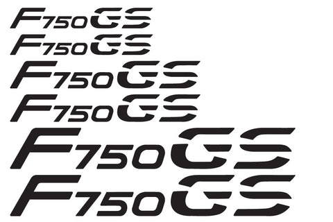 "BMW GS Motorcycle Reflective Decals ""F750 GS"""