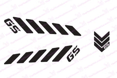 "BMW GS Reflective Safety Decal Kit ""GS Chevron"" for Arai XD4 Motorcycle Helmet"