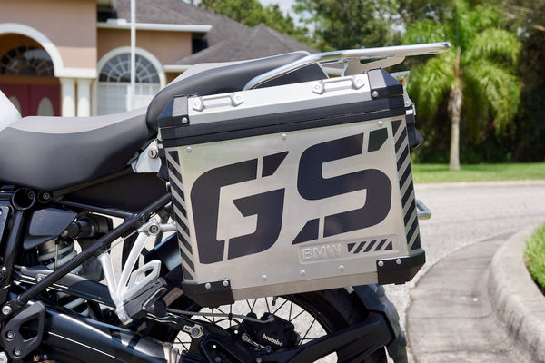 BMW Large GS Motorcycle Reflective Chevron Graphics Kit for Touratech Panniers