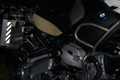 Motorcycle Reflective Chevron on Touratech Pannier