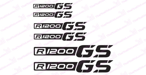 "BMW GS Adventure Motorcycle Reflective Decal Kit ""R1200 GS"""