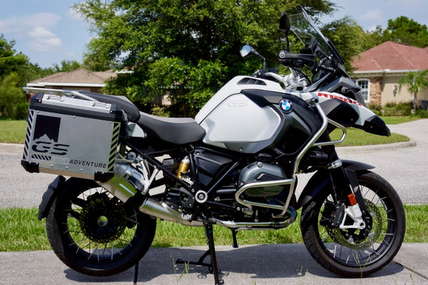 "BMW GSA Adventure Motorcycle Reflective Decal Kit ""GS Mountain Adventure"" for Touratech Panniers"