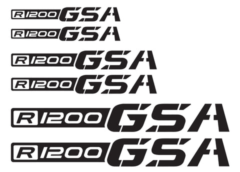 BMW GSA Adventure Motorcycle Reflective Decal Kit R1200 GSA