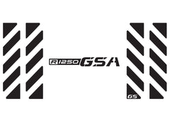 "BMW GSA Adventure Motorcycle Reflective Chevron Decal Kit ""R1250 GSA"" for Touratech Top Case"