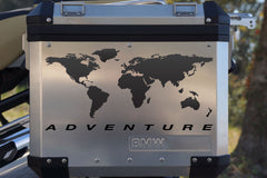 "Motorcycle Decal Kit ""World Adventure"" for Touratech Panniers"