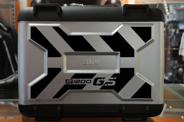 BMW GS Motorcycle Reflective Decal Kit Large X Chevron for Variable Panniers