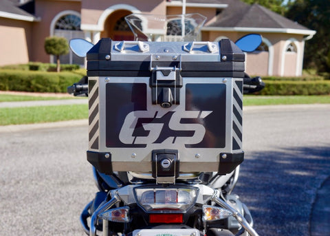 "BMW GSA Adventure Motorcycle Reflective Chevron Decal Kit Large ""GS"" for Touratech Top Case"