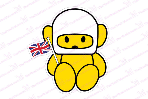 Hesketh Racing F1 Teddy Bear With Flag Decal The Pixel Hut