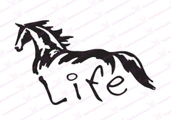Horse Life Window Graphic