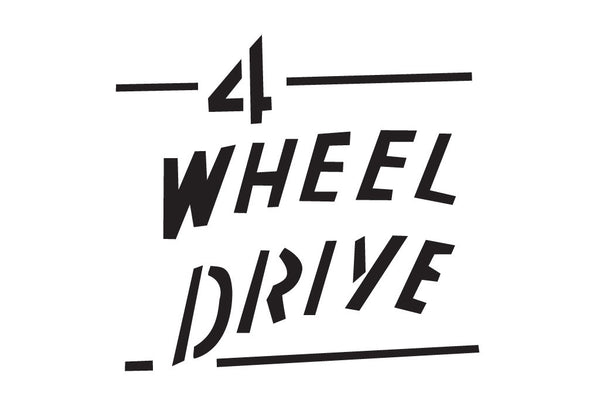 Jeep Wrangler Retro 4 Wheel Drive Decal with Lines