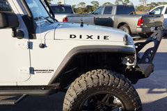 Jeep Wrangler DIXIE Hood Decals