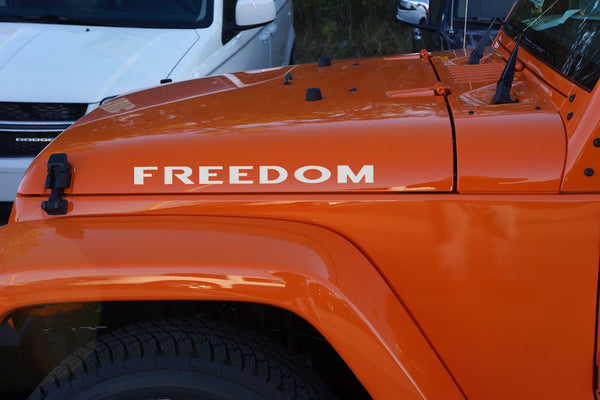 Jeep Wrangler Freedom Hood Decals The Pixel Hut