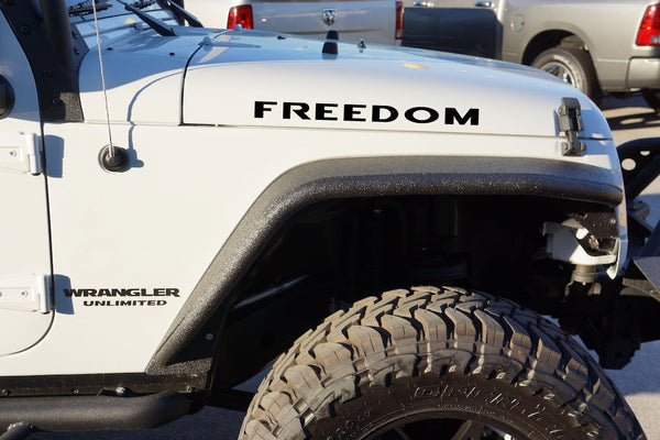 Jeep Wrangler FREEDOM Hood Decals
