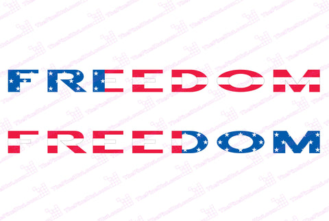 Jeep Wrangler FREEDOM USA Flag Hood Decals