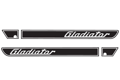 Gladiator Retro Hood Decals for your Jeep Gladiator Pickup JT - Two Color