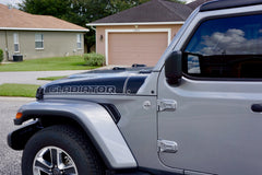 GLADIATOR Ramp Style Hood Decals for Jeep Gladiator Pickup