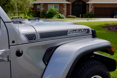 Gladiator Retro Hood Decals for your Jeep Gladiator Pickup JT
